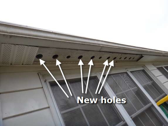 Roof repair bowie attic ventilation edge vent for Soffit and fascia calculator