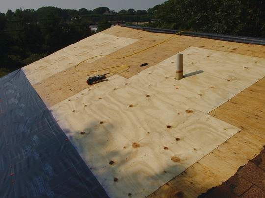 Roofing plywood figure 2 49 wood roof shingles with for Roof sheathing material options