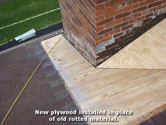 Replace Plywood Around Chimney