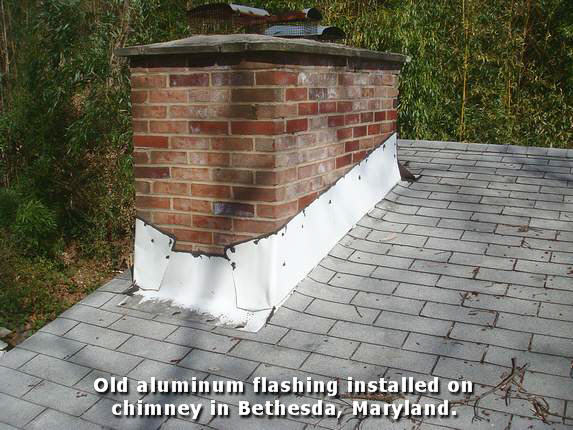 install flashing around chimney