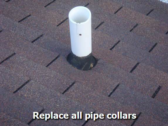 Replace pipe collars