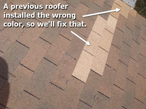 Wrong color roofing.