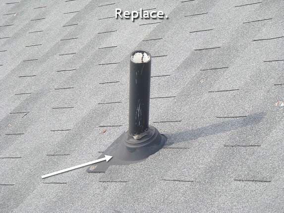 Defective plastic pipe collar