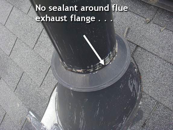 Roof flange sealant