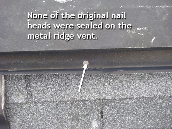 Renail ridge vent