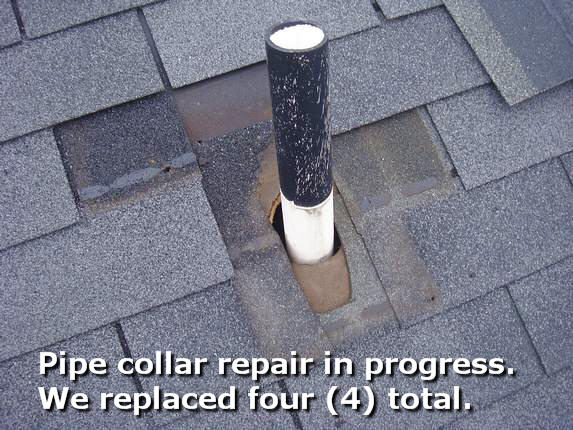 Md Roof repair in progress