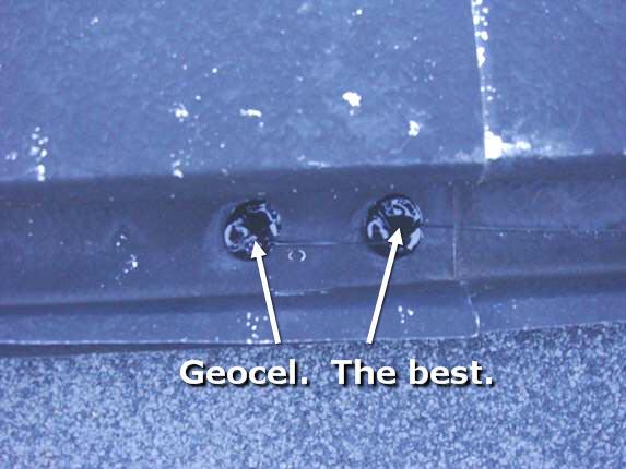 Geocel leak prevention