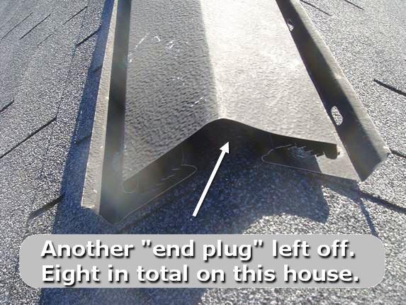 Missing rubber end plug
