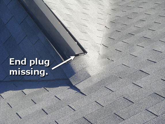 Repair metal ridge vent