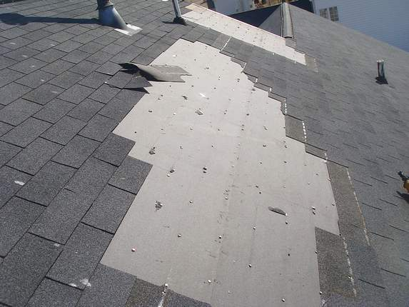shingles ripped from deck