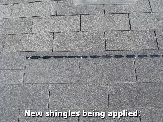 shingle properly applied