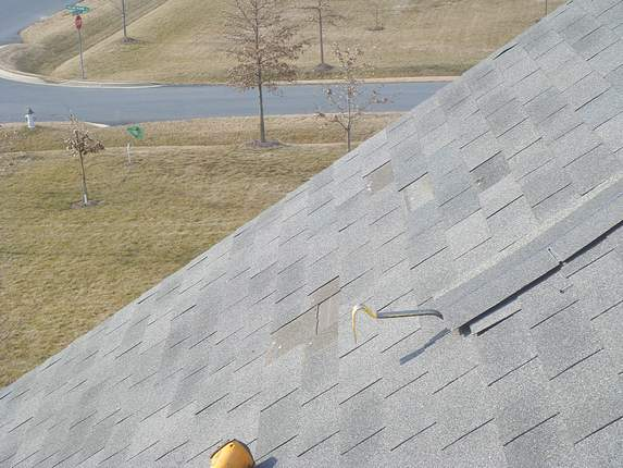 Steep 9/12 roof pitch