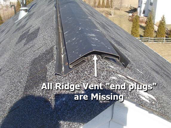 Big ridge vent leak