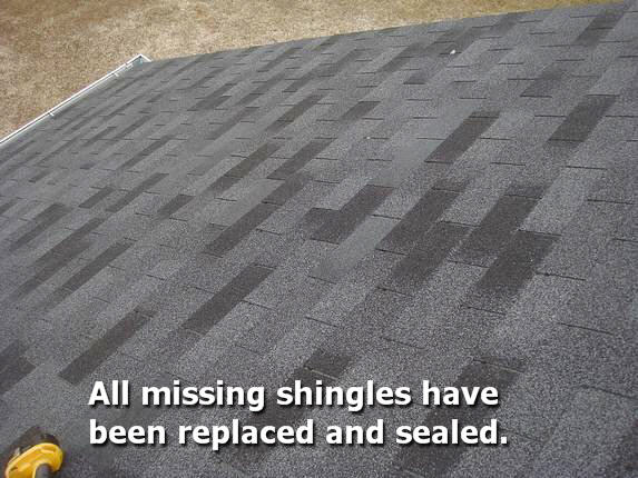 Md Roof repaired with new shingles