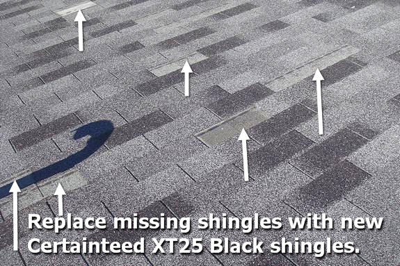 Certainteed 25 year shingle blow offs