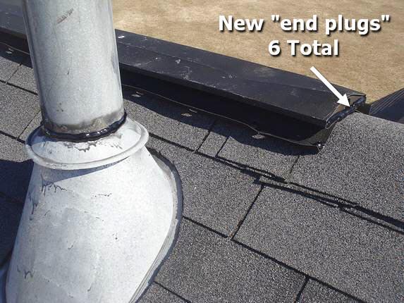 metal ridge vent end plugs