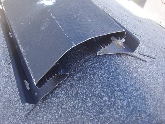 missing ridge vent plug equals leak