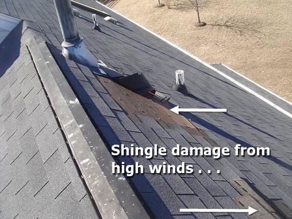 Shingle Damage Photo