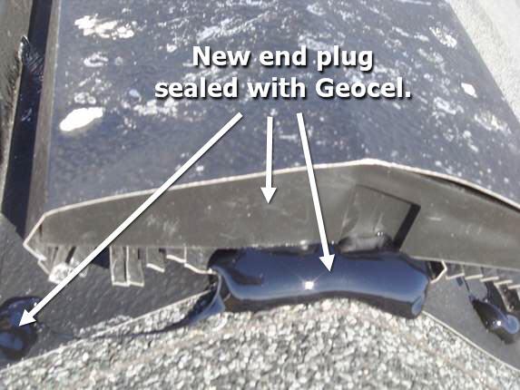 New ridge vent end plug