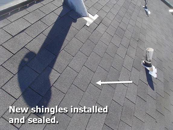 New Shingle Installed