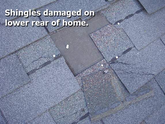 Poorly nailed shingles
