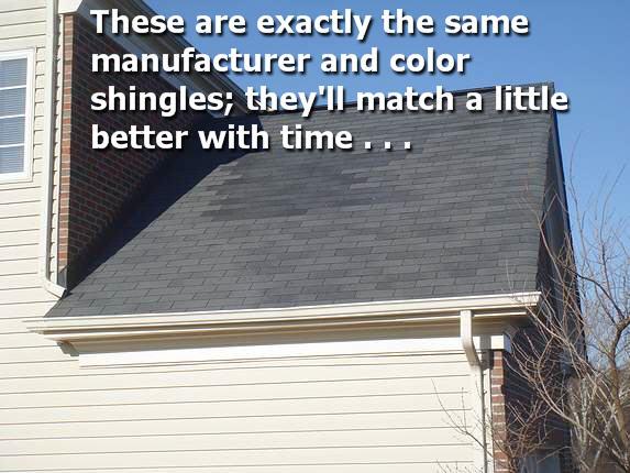 Moire Black shingle repair