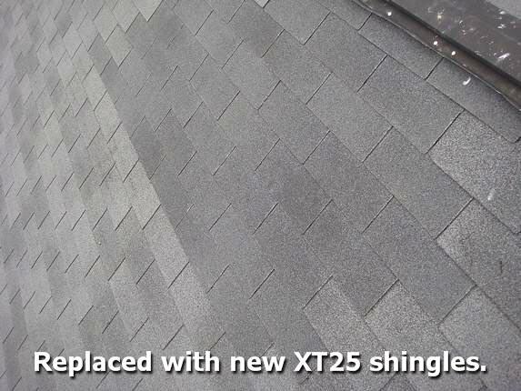 New Moire Black shingles installed