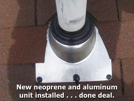 New roofing pipe boot