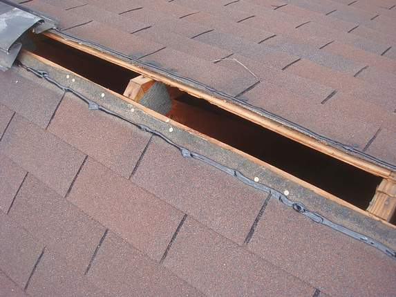 Metal ridge vent installation