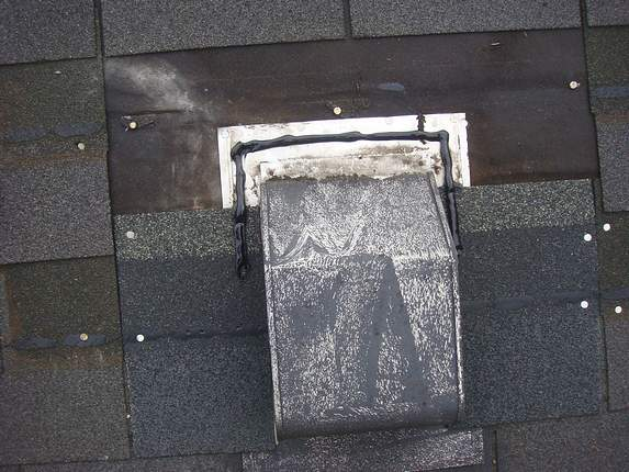 vent flashing and shingles