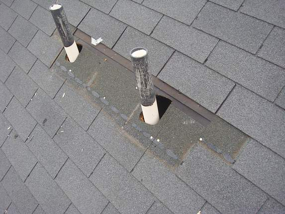 Two roof leaks