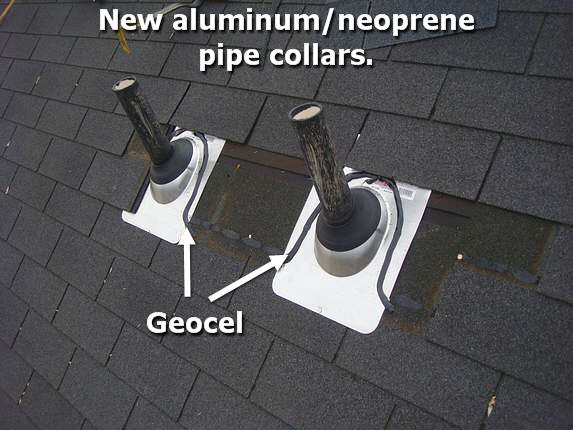 Aluminum / neoprene pipe collars