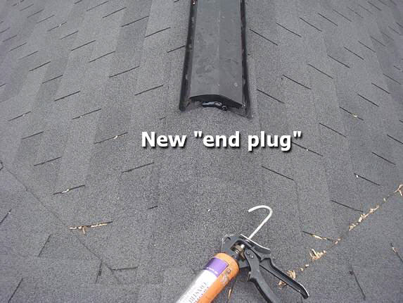 Ridge vent repair