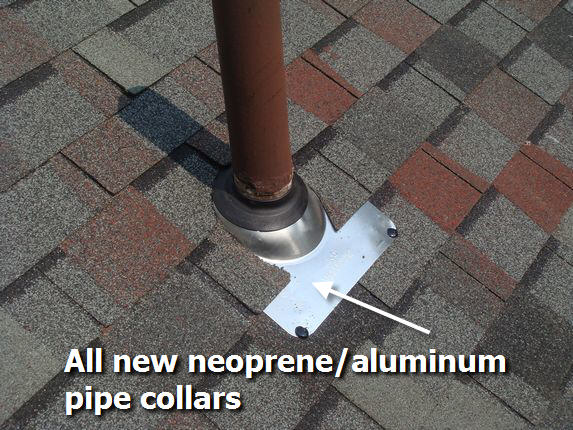 New aluminum pipe collar