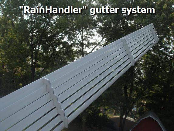 Rainhandler gutter dispersal system