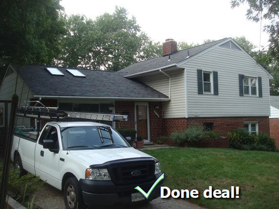New Carrollton Md new roof installed