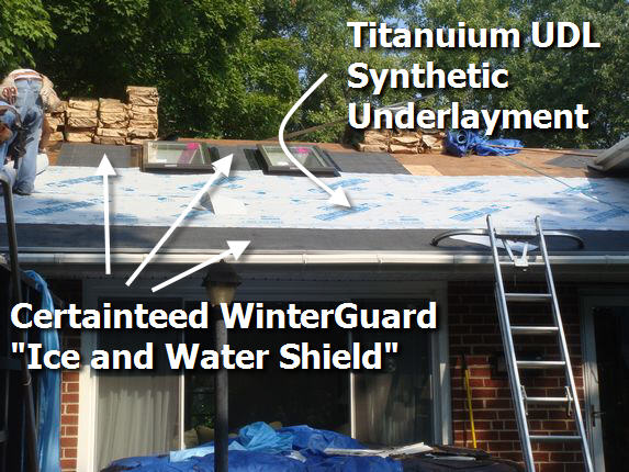Titanium UDL underlayment installed