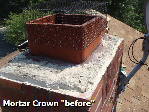 Chimney mortar crown poor