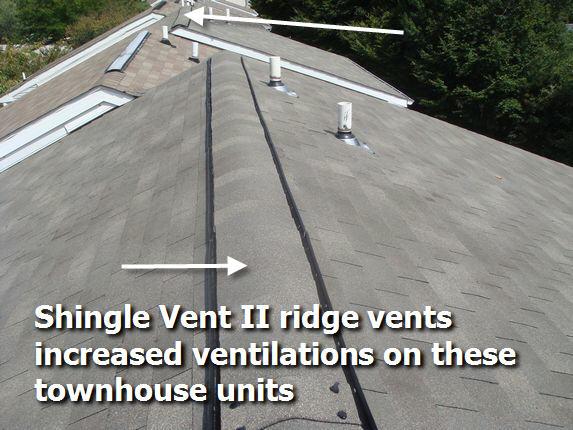 Shingle Vent II Ridge Vent