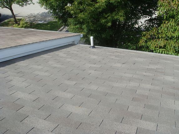 Chalk lines keep the roofing straight