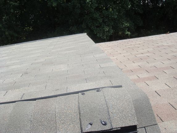 Roof edge cut nice and straight
