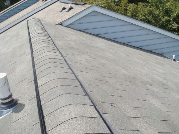 Very straight ridge vent