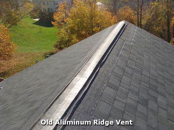 Replace Old Aluminum Ridge Vent