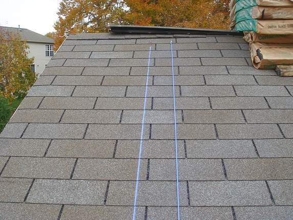 Chalk lines on Roof in Md