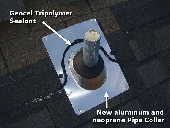 How to Install a Roof Pipe Collar