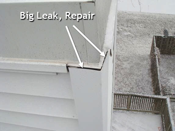 Seal siding corner post against leaks