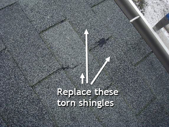 Replace roofing shingles