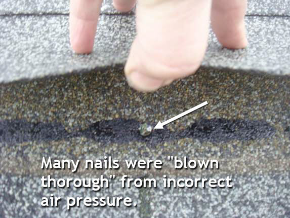 Remove roofing nails