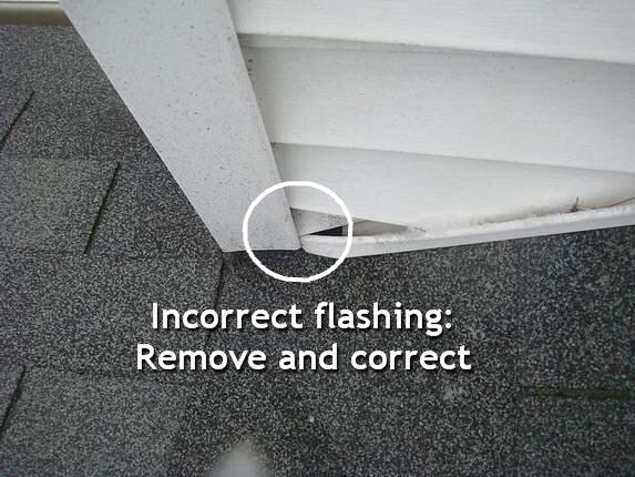 Correct step flashing