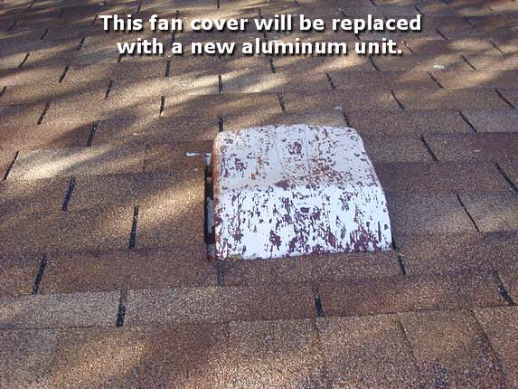 New aluminum fan cover installation